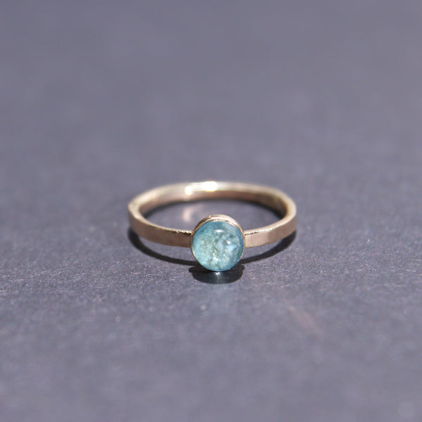 Satellite Ring in Aquamarine