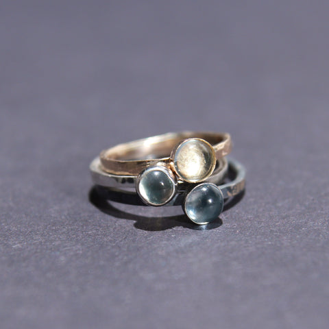 Satellite Ring in Blue Topaz