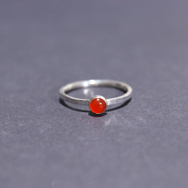 Satellite Ring in Carnelian