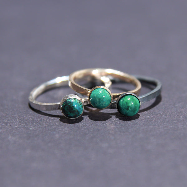 Satellite Ring in Chrysocolla