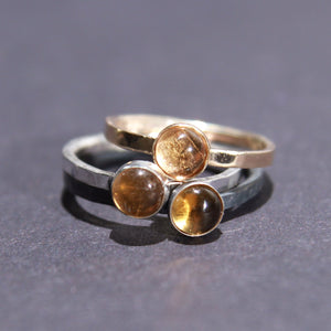 Satellite Ring in Citrine