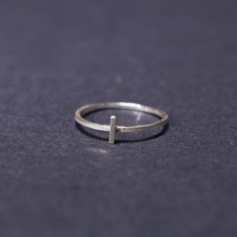 cross stacker ring sterling silver UK