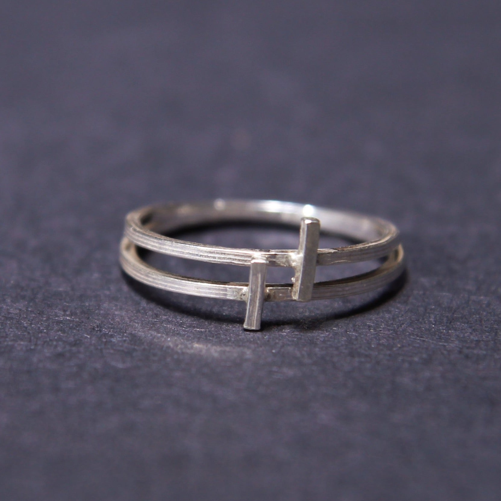 cross stacking rings sterling silver UK
