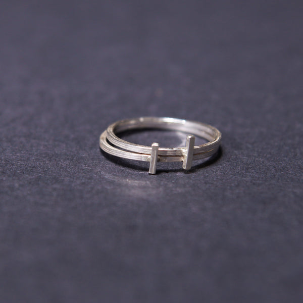 handmade stacking rings sterling silver UK