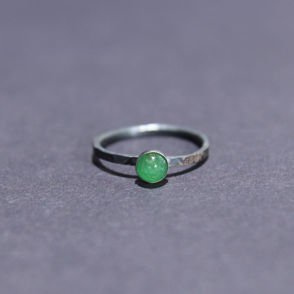 Satellite Ring in Emerald
