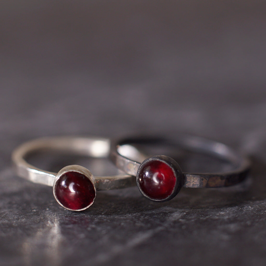 Satellite Ring in Garnet