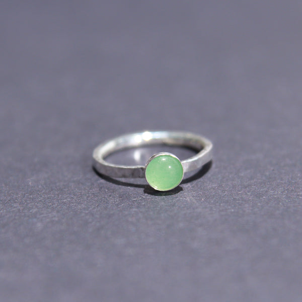 Satellite Ring in Green Aventurine
