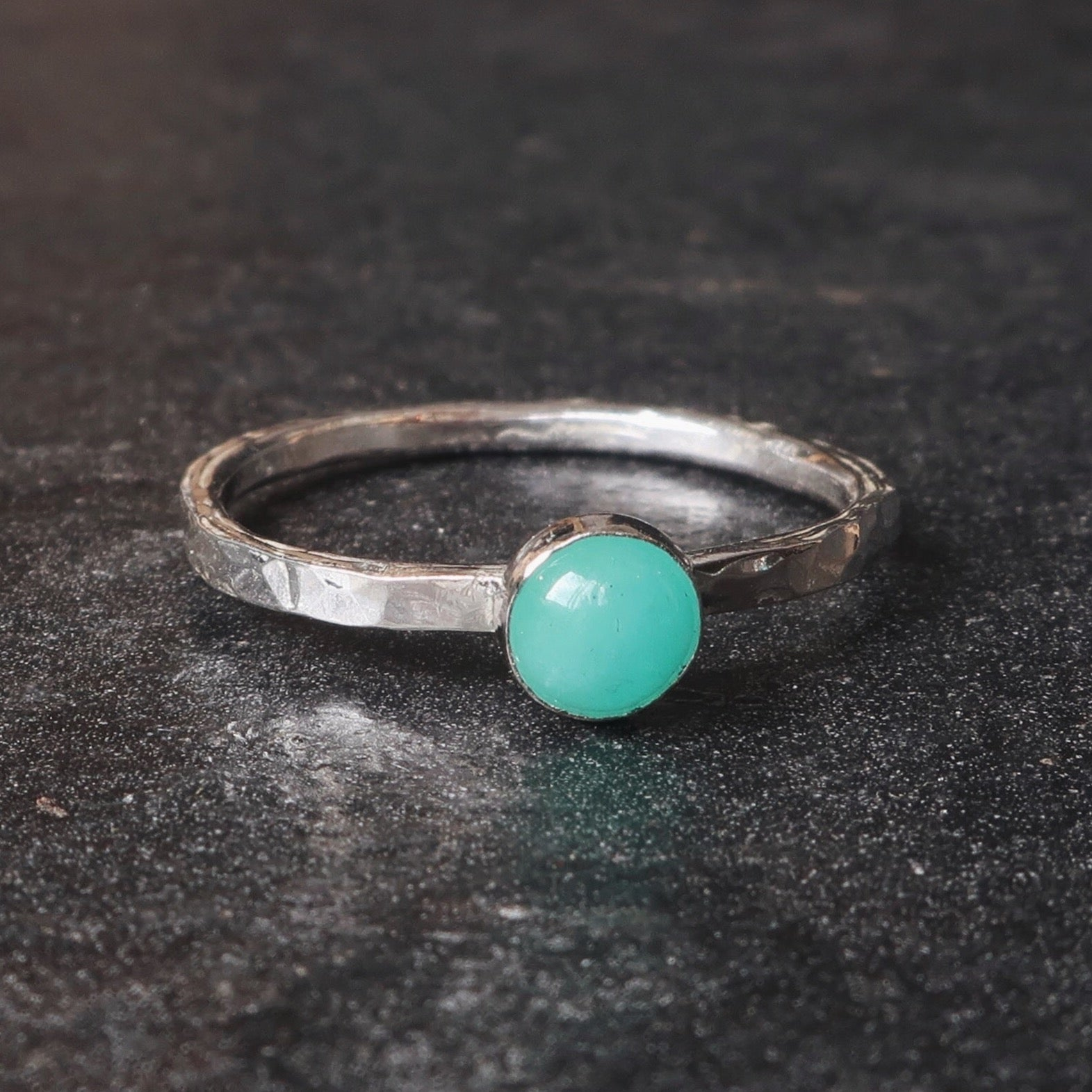 NEW! Satellite Ring in Amazonite