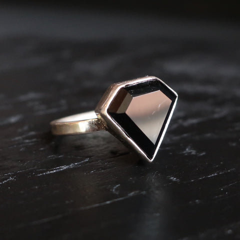 Dark Star - Diamond Shaped Onyx Ring