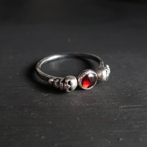 Limited Edition Persephone Ring in Rose Cut Garnet