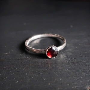 Limited Edition Satellite Ring in Rose Cut Garnet