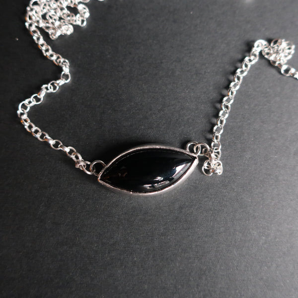 The Onyx Eye - Marquise Onyx Pendant