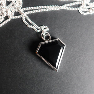 Black Onyx Diamond Necklace