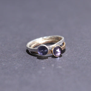 Satellite Ring in Rose Cut Iolite