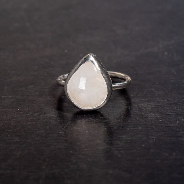 Teardrop Moonstone Ring Size Q/R