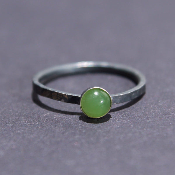 Satellite Ring in Jade