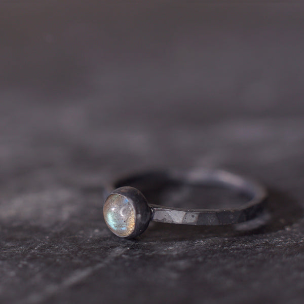 Satellite Ring in Labradorite
