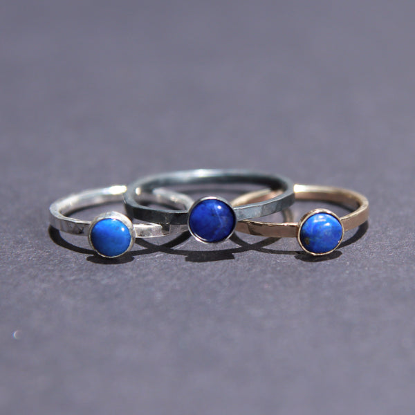 Satellite Ring in Lapis Lazuli
