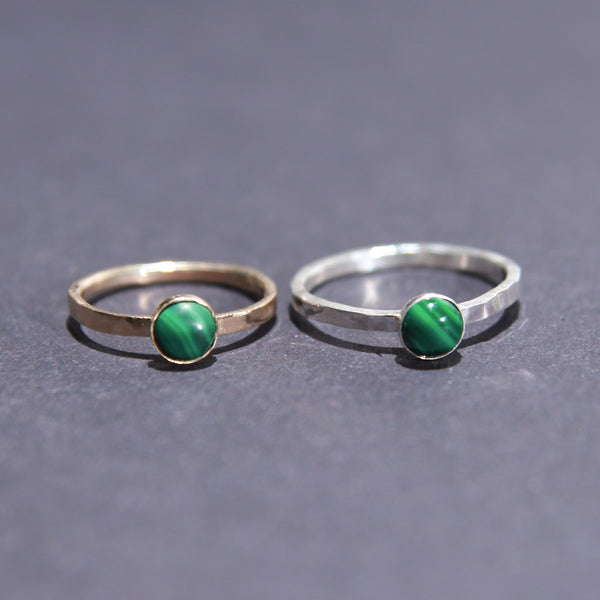 Satellite Ring in Malachite