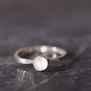 Satellite Ring in Moonstone