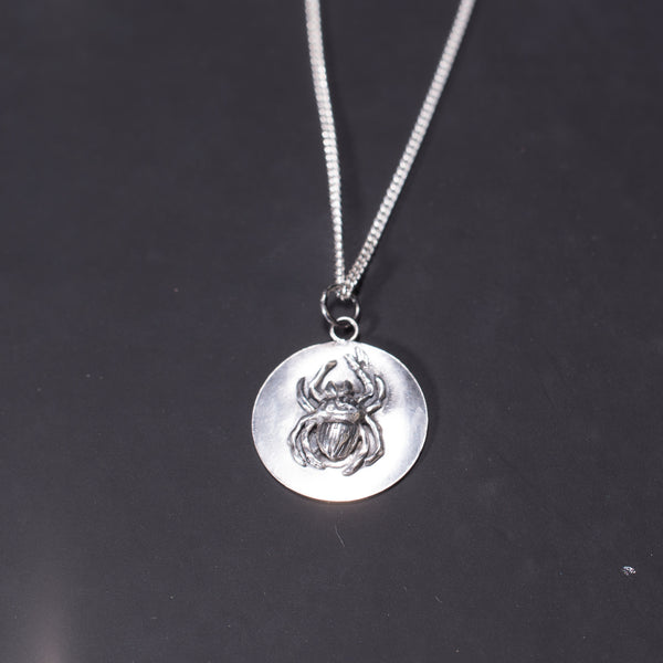 Pay the Ferryman - Spider Obol Disc Necklace