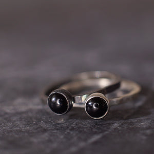 Satellite Ring in Black Onyx