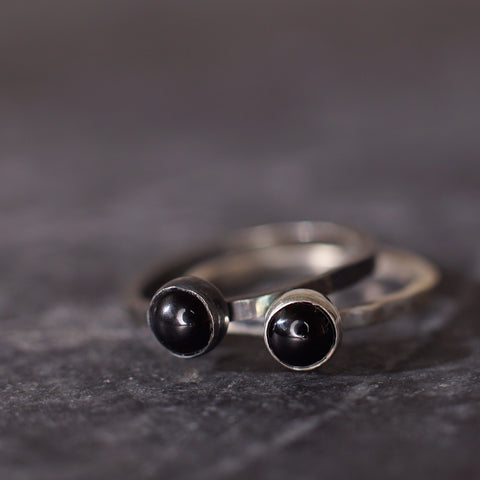 Satellite Ring in Onyx