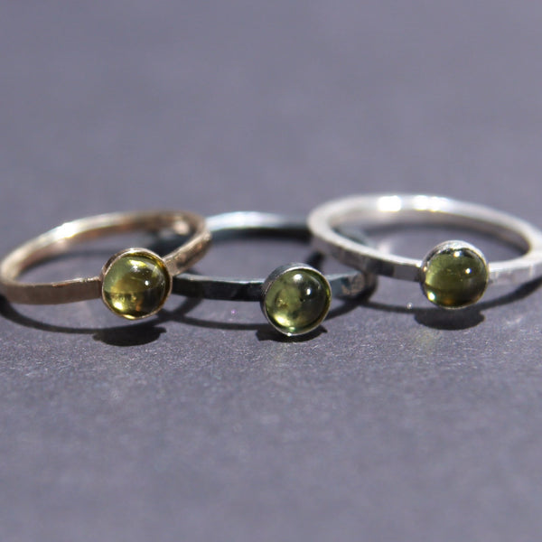 Satellite Ring in Peridot