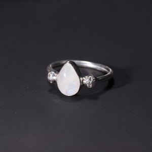 Gothic moonstone skull ring UK