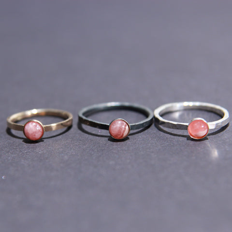 Satellite Ring in Rhodochrosite