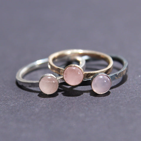 Satellite Ring in Rose Quartz