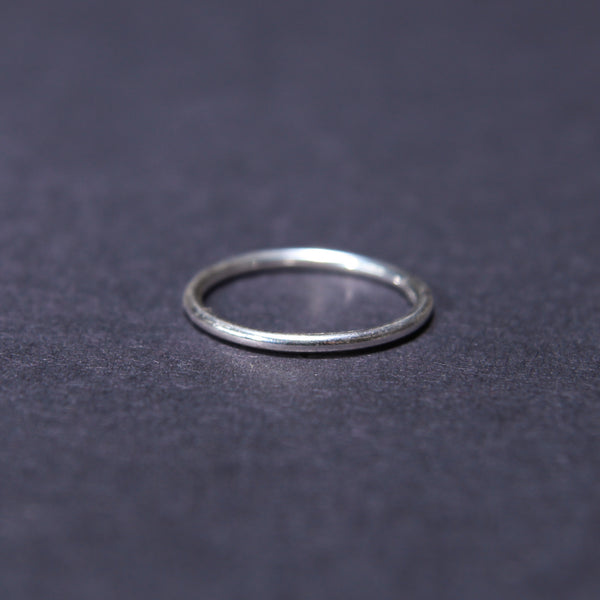 Sterling Silver handmade stacking ring UK