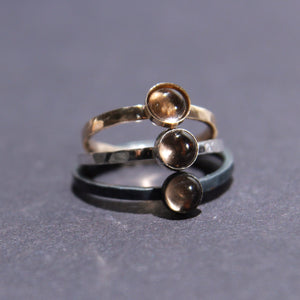 Satellite Ring in Smoky Quartz