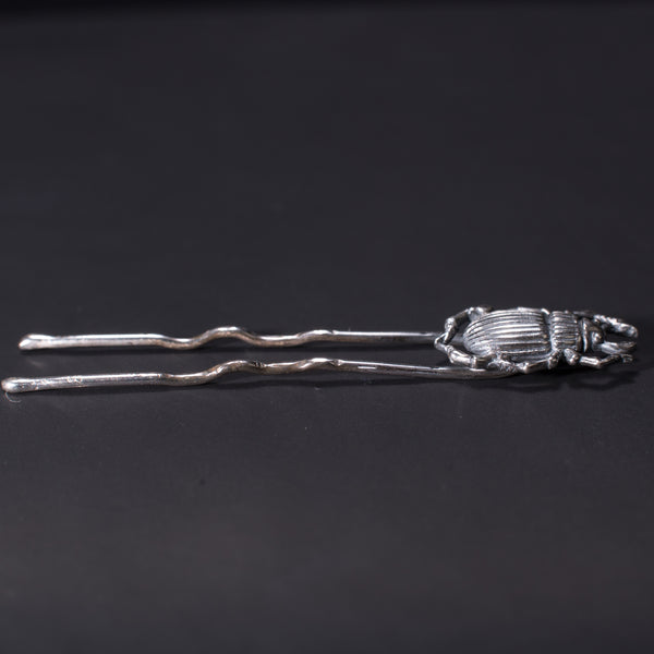 Death Beetle Sterling Silver Hair Pin