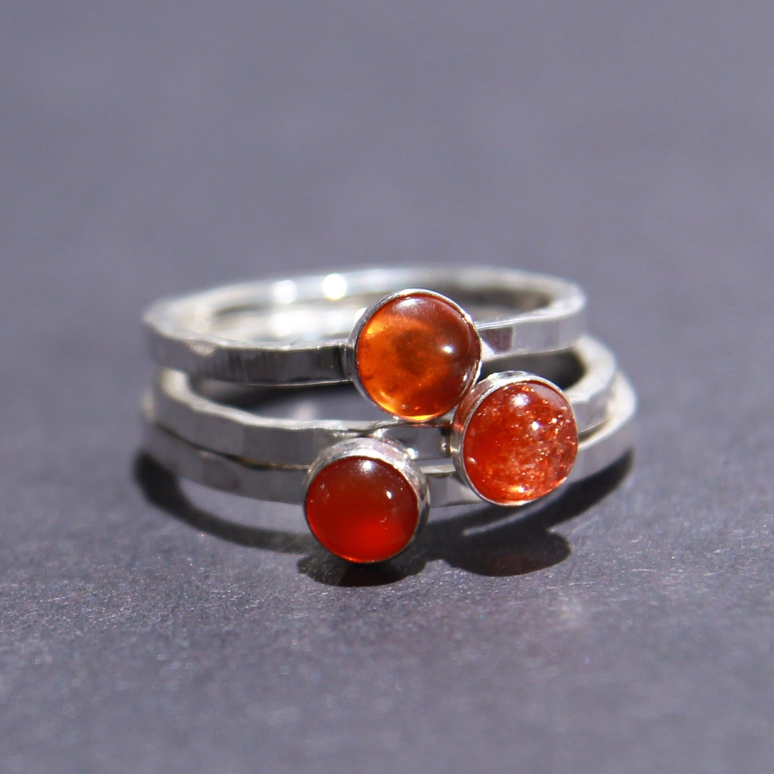 Satellite Ring in Sunstone