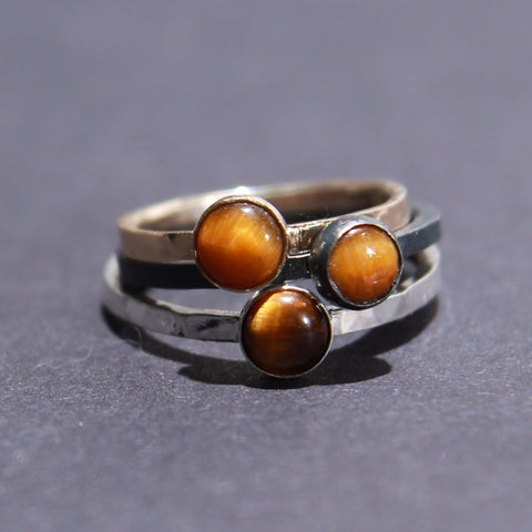 Satellite Ring in Tiger's Eye