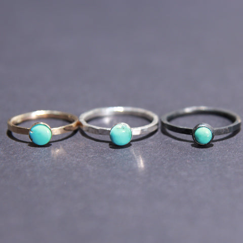 Satellite Ring in Turquoise