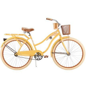 "Huffy 26"" Nel Lusso Women's Cruiser Bike, Yellow"
