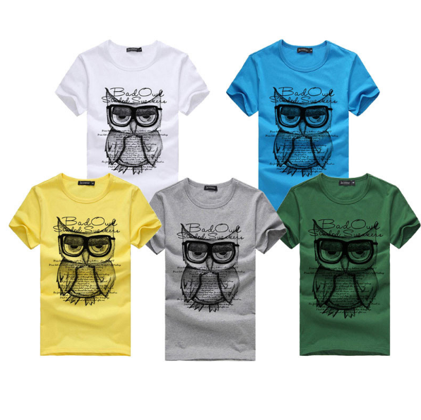 Cotton Owl Printing T-Shirt