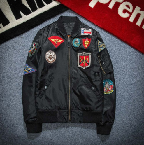 Autumn Badge Embroidered Jacket