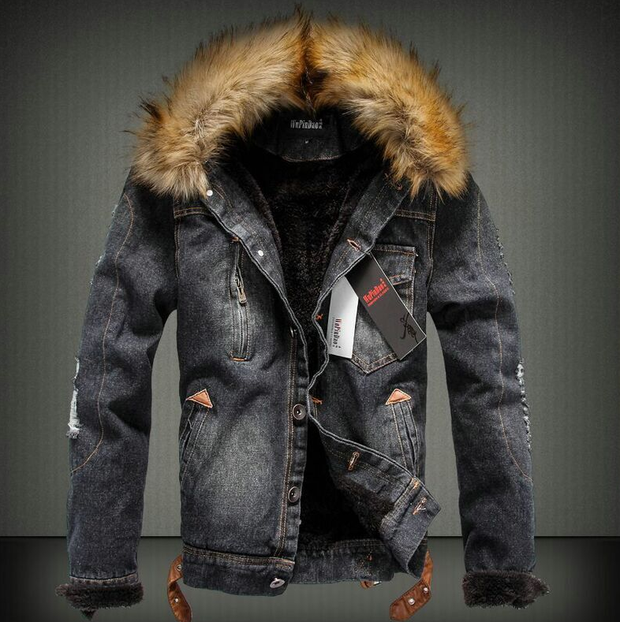 Denim Thick Winter Jacket