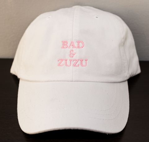 BAD & ZUZU WHITE AND PINK HAT