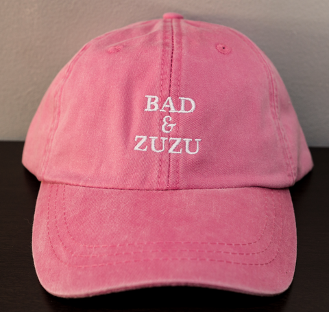 BAD & ZUZU HOT PINK AND WHITE HAT