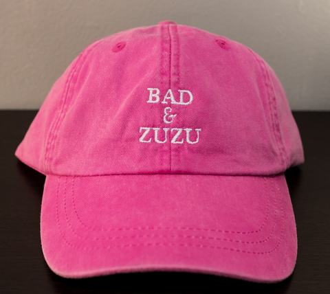 BAD & ZUZU NEON PINK AND WHITE HAT