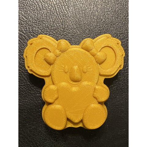 Koala Bear with Heart Plastic Hand Mold