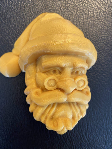 Santa with Glasses #2 Plastic Hand Mold