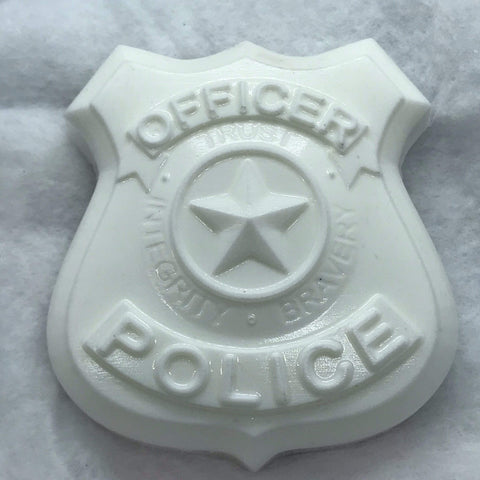 Police Badge Plastic Hand Mold