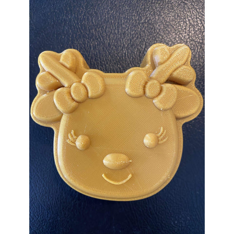 Reindeer with Bows Plastic Hand Mold