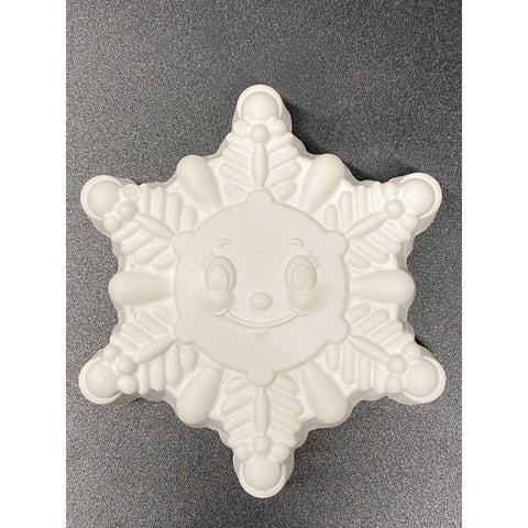 Happy Snowflake Plastic Hand Mold