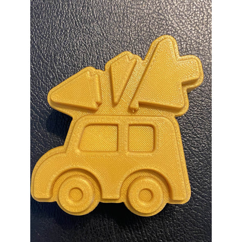 Truck with Christmas Tree Plastic Hand Mold